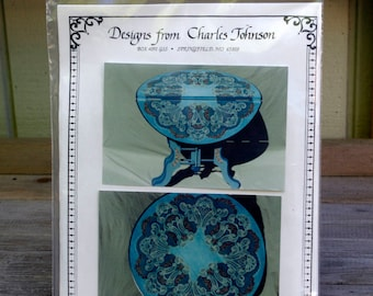 Battenburg Lace Table Tole Painting Pattern by Charles Johnson