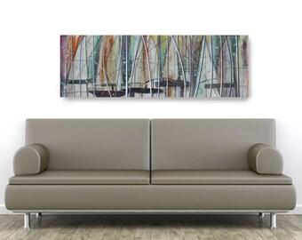 Sail Abstract, African American Art, Canvas Art, Canvas Wall Art,Home Decor Art, Canvas Painting,Abstract Art, Wall Art
