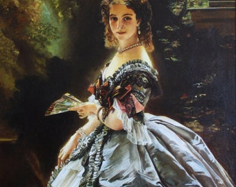 Copy! Portrait of princess Trubetskaya (Winterhalter)