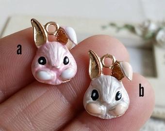 12 x 19 mm of Rose Gold Rabbit Charm Finding / pendant (.u)