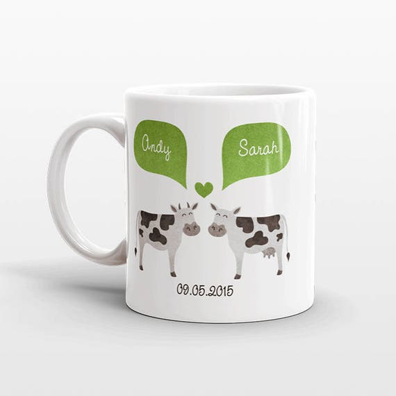 COW Mug Valentines Day Gift for Her for Him Animal Couple Mug Anniversary Gift for Men Women Unique Coffee Mug Personalized Mug Coffee Cup