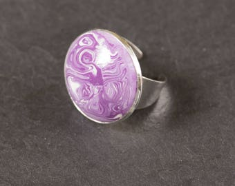 Polymer clay purple ring
