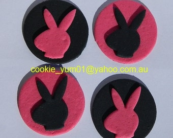 12 edible PLAYBOY BUNNY PLAYMATE disc icing cake decorations cupcake topper decoration party wedding anniversary birthday engagement