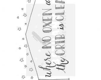 Proverbs 14:4 PDF, hand lettered