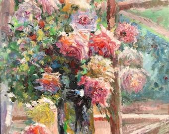 """Yunajian Wang 231 Flowers  31x31"""""""