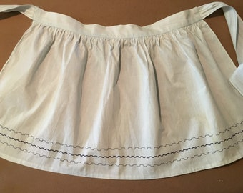 Vintage Apron - Pale Blue - Nice stitching - SOLD AS IS