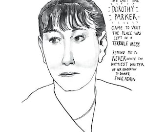 Dorothy Parker poster print Great American Writer