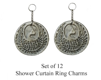 Decorative Shower Curtain Ring Charms... Ornamental Bird