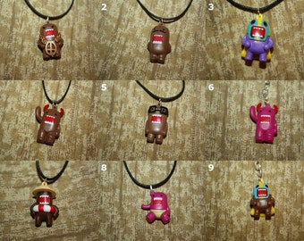 Domo Keychains, Necklaces, Cell Charms, and Audio Jack Plugs - SELECT STYLE