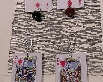 Games, Burraco, lightweight pendant earrings, (large and medium type)