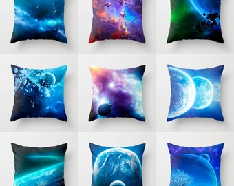Galaxy Pillow Case Nebula Pillow Space Pillow Cover Space Throw Pillow Galaxy Throw Pillow Space Abstract Throw Pillow Colorful Pillow Cover