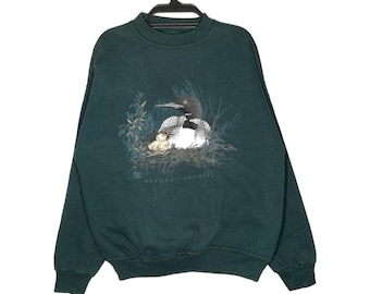 Vintage Northern Reflection Nature's Promise Sweatshirt Pullover Crewneck Made in Canada