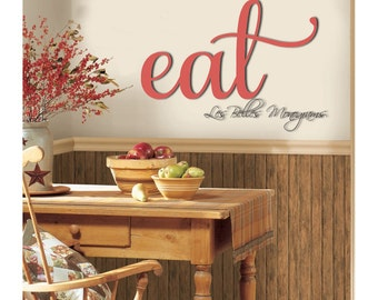 """Wooden Eat Sign, Kitchen Wall Decor, Wood """"eat"""" Sign, Wall  Hanging Letters, Eat Cut out Sign, Kitchen sign, Wooden wall hanging"""