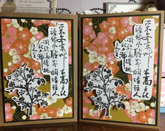 Handmade Japanese theme card
