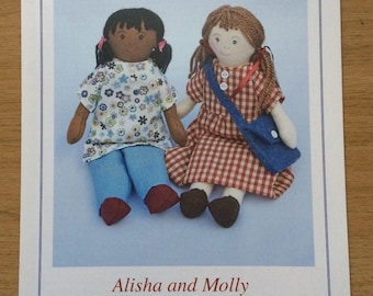 Knits & Pieces Alisha And Molly Rag Doll Sewing Pattern
