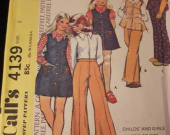 McCall's 4139, Child's and Girl's Jumper or Top, Blouse, and Pants