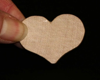 Unfinished Wood Heart Country - 1-1/2 wide by 1 inch tall and 3/16 inches thick wooden shape (WW-JC2718)