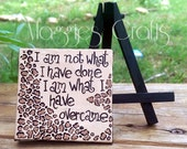 Leopard Print Quotes Inspirational Mini Canvas And Easel Gift Ideas Room Decor Wall Art