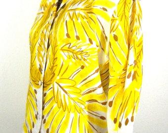 Vintage Japanese 3/4 Sleeve Blouse // Size M