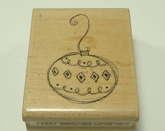 Sketched Ornament Wood Mounted Rubber Stamp By Paper Inspiration F 9857, Christmas, Tree, Holiday, Decorations