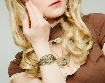 Steampunk Necklace Butterfly Movement Gothic Victorian jewellery