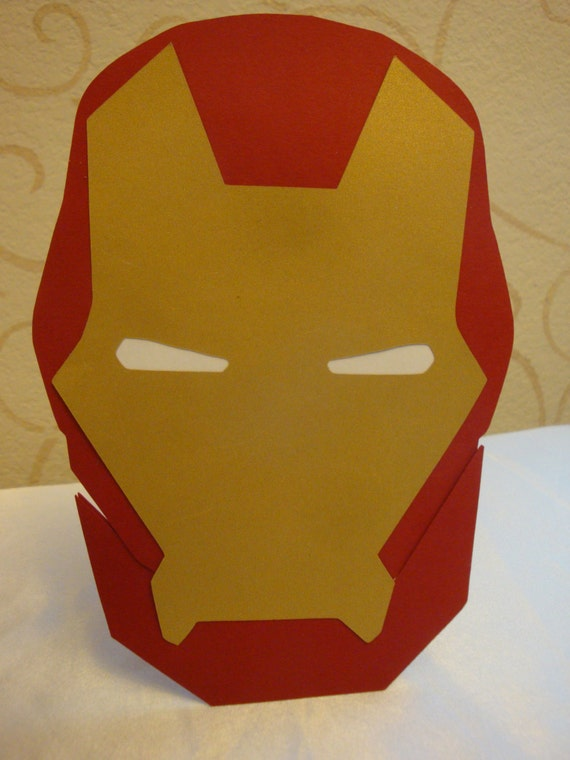 Iron man party invitations set of 8 Birthday party