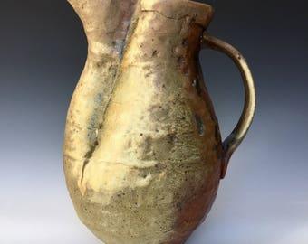 Wood Fired Ceramic Pitcher