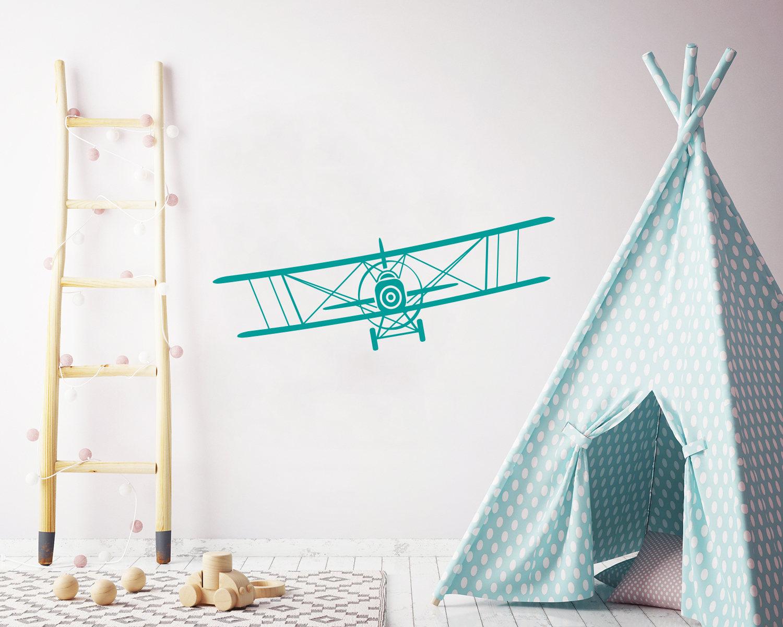 Flugzeug-Wand-Aufkleber-Kinderzimmer.