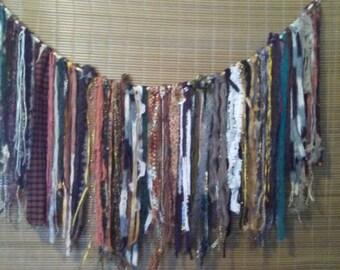 Boho garland wall hanging