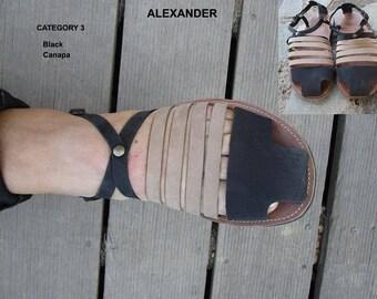 Men's Sandals,Gladiator Sandals, Handmade Leather Sandals, Closed Toe Sandals for men,Anciens Greek Sandals,Leather Sandals, ALEXANDER