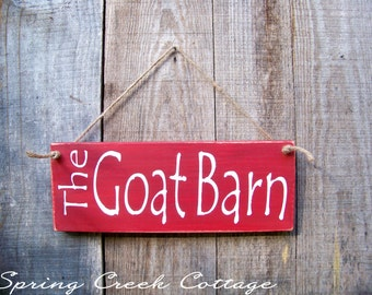 Signs, The Goat Barn, Handpainted, Goat Signs, Reclaimed, Wood, Rustic, Farmhouse Decor, Custom Signs, Country Decor