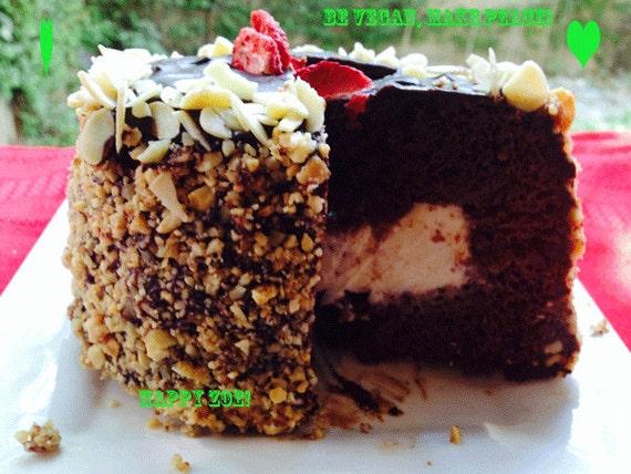 Vegan Mini Hazelnut Pecan chocolate birthday cake , Natural and Healthy ingredients,Love,Birthday,Wedding.