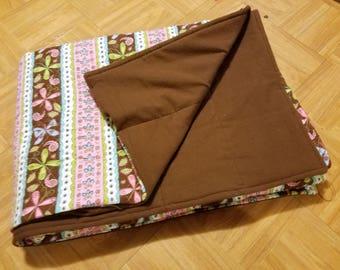Semi Custom Weighted Blanket - Size MEDIUM - You choose weight - Floral Quilt