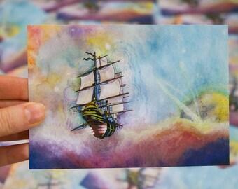 Tall Ship Postcard