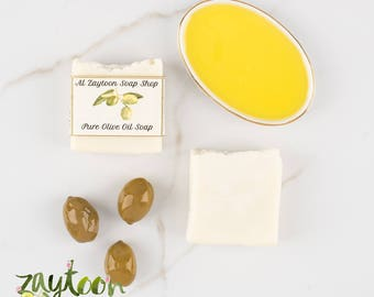 Pure Unscented Olive Oil Soap -- Natural Soap Perfect for Sensitive Skin and Babies