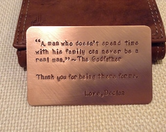 Father's Day Gift, Wallet note