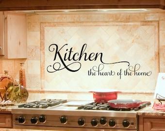 Kitchen Decor   Kitchen Wall Decal   Kitchen Decals   Heart Of The Home    Kitchen