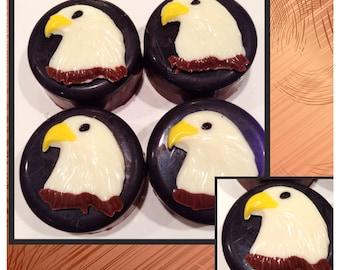 Eagle Scout, Eagle Head Chocolate covered oreosCustomized - Eagle chocolate set of 12