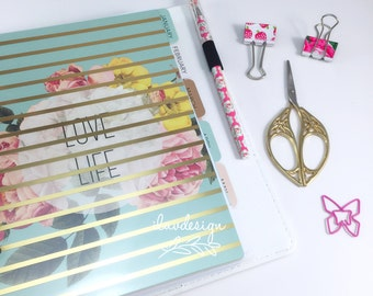 Heidi Swapp Large Memory Planner (IN STOCK) Gold Foil Dots Planner • Free Washi Tape with this order (312597)