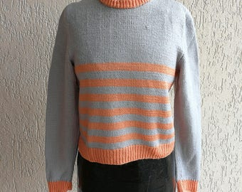 Stripy knitted top