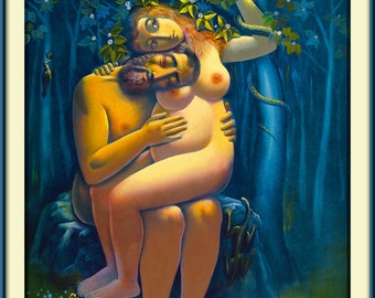 Waiting, Adam, Eve, mystical, naked, love,