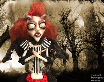 Gothic vampire demon doll creepy doll horror doll
