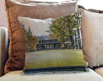 New York Yellow Taxi Photography - Decorative PIllow Throw Cushion Fabric , Case Cover or with Filling