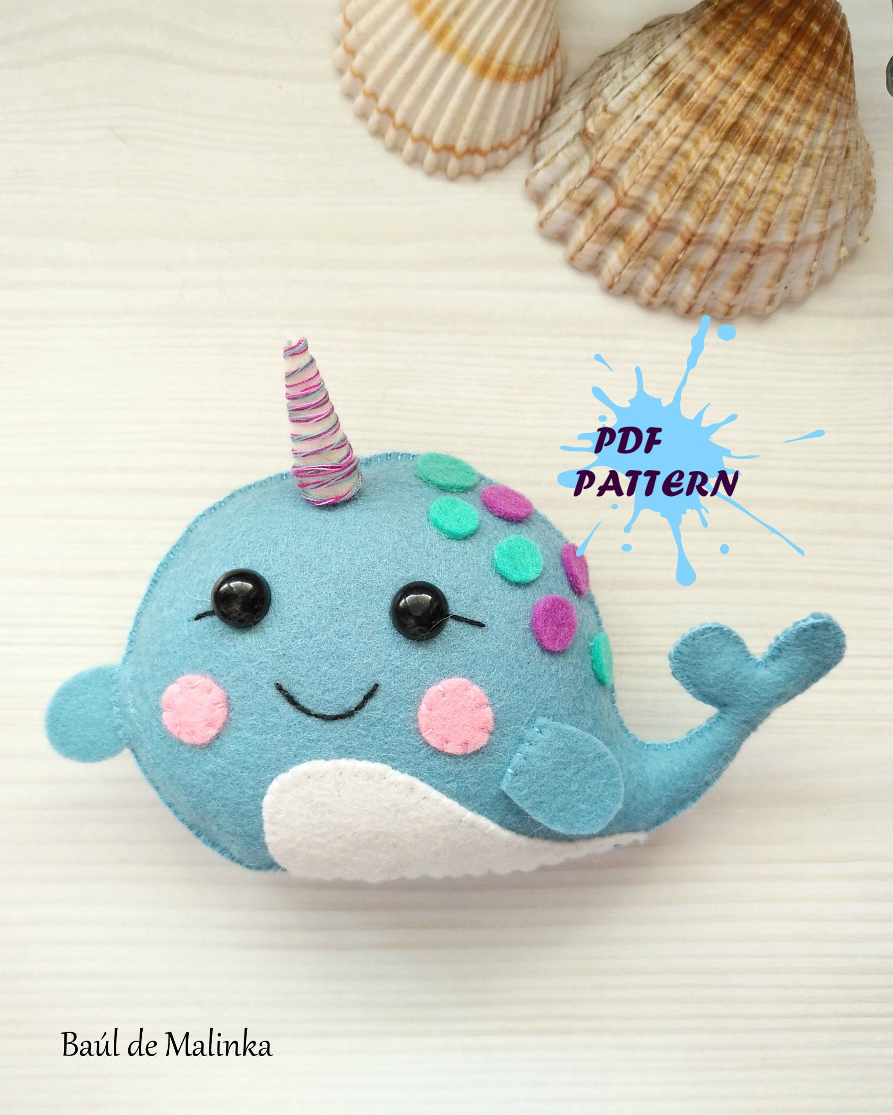 Amazing Narwhal Sewing Pattern Image Collection - Sewing Pattern for ...