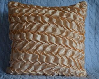 Leaf pattern Satin Cushion