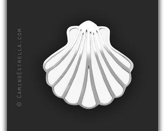 Shell Necklace silver white Camino de Santiago