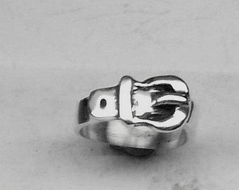 BELT RING  Sterling Silver Free Shipping