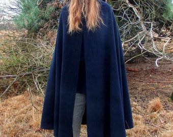 hooded cape wool / hooded cloak  woolen / woolen hooded cape / fantasy cape / woolen medieval cape / victorian cape / larp cape mantel