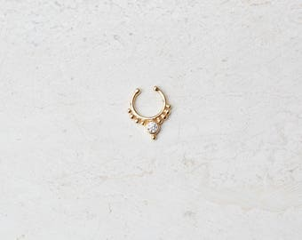 Nose hoop ring, Nose ring, Gold nose ring, Body Jewelry, E046