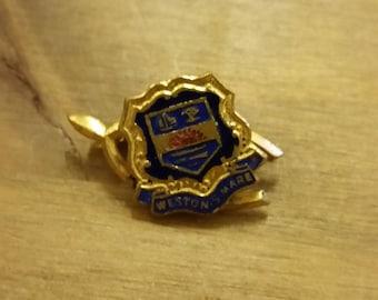 Vintage Weston Super Mare Wishbone Crest Badge